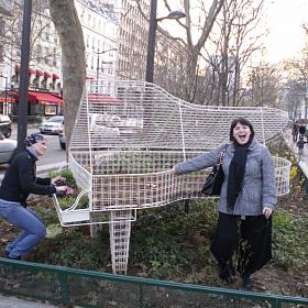 Ника Коварская и Юлия Зиганшина. Гастроли во Франции. Париж, 2010 год.
