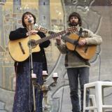 Из фотоархива певицы. Юлия Зиганшина и Александр Лаврентьев. Грушинский фестиваль, 2006 год.