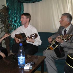 Юлия Зиганшина, Роман Ланкин и народный артист России, легендарный джазовый гитарист Алексей Кузнецо