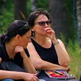 Ника Коварская и Юлия Зиганшина на фестивале &amp_____quot_Ломы - 2014&amp_____quot_.