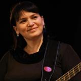 С бас-гитарой. Фото Алексей Денисова.