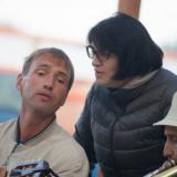 С Романом Ланкиным и Дмитрием Толпеговым на вечерних посиделках.